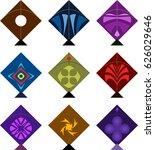 kite design collection  raster... | Shutterstock . vector #626029646
