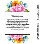 vintage delicate invitation... | Shutterstock .eps vector #626030186