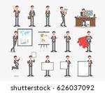 vector set of businessman... | Shutterstock .eps vector #626037092