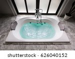 jacuzzi bath tub on marble... | Shutterstock . vector #626040152