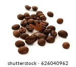 coffee beans isolated on white | Shutterstock . vector #626040962