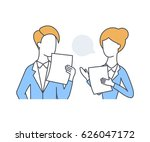 business people with documents... | Shutterstock .eps vector #626047172