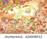 watercolor candy illustration.... | Shutterstock . vector #626048012
