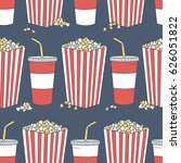 collection of popcorn and... | Shutterstock .eps vector #626051822