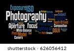 photography word cloud | Shutterstock . vector #626056412