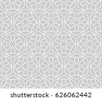 seamless geometric line pattern ... | Shutterstock .eps vector #626062442