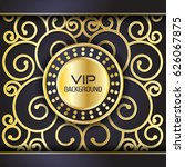 gold background flyer style... | Shutterstock .eps vector #626067875