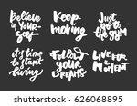 keep moving. believe in... | Shutterstock .eps vector #626068895