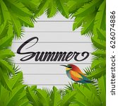 summer inscriptions. palm... | Shutterstock .eps vector #626074886