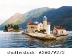 fjord in adriatic sea. our lady ... | Shutterstock . vector #626079272