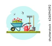 concept of gardening. garden... | Shutterstock .eps vector #626094392