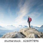 Tourist On The Peak Of High...