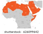 arab world states political map ... | Shutterstock .eps vector #626099642