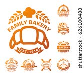bakery gold badge icon fashion... | Shutterstock .eps vector #626100488