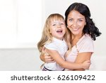 mother and daughter. happy... | Shutterstock . vector #626109422