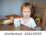 an angry little boy and a...   Shutterstock . vector #626110535