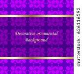 luxury colored ornamental... | Shutterstock .eps vector #626116592