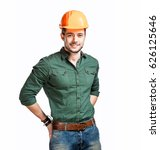 young construction workers in... | Shutterstock . vector #626125646