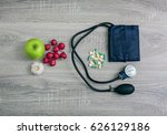 lower blood pressure naturally | Shutterstock . vector #626129186