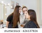 makeup teacher with her student ... | Shutterstock . vector #626137826