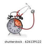 Small photo of time clock stethoscope timeline 15 minutes