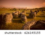 the plain of jars sit1 in the... | Shutterstock . vector #626145155