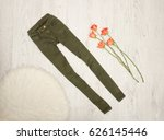 Jeans Color Khaki  Orange Rose...