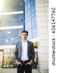 elegant young businessman while ... | Shutterstock . vector #626147762