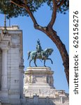 Small photo of Rome, italy-april 8,2017 - Altar of the Fatherland (Altare della Patria) known as national monument to Victor Emmanuel II