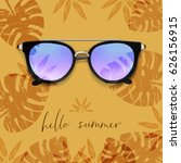 realistic sunglasses. palm... | Shutterstock .eps vector #626156915