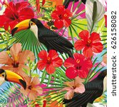 exotic composition from... | Shutterstock .eps vector #626158082