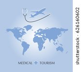 medical tourism and healthcare... | Shutterstock .eps vector #626160602