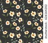 seamless floral pattern with... | Shutterstock . vector #626164202