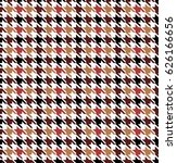 colorful seamless houndstooth... | Shutterstock .eps vector #626166656