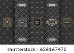 vector set of design elements... | Shutterstock .eps vector #626167472