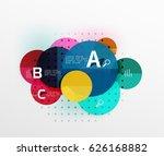 vector circle banner. vector...   Shutterstock .eps vector #626168882