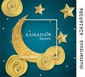 ramadan kareem illustration...   Shutterstock .eps vector #626169386