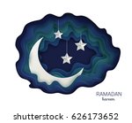 ramadan kareem background.... | Shutterstock .eps vector #626173652
