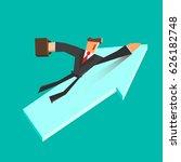 businessman flies on a growing... | Shutterstock .eps vector #626182748