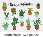 Set Vector Of Houseplants In...
