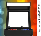 gaming arcade machine with... | Shutterstock . vector #626192996