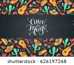 cinco de mayo poster  in... | Shutterstock .eps vector #626197268