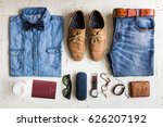 men's casual outfits with... | Shutterstock . vector #626207192