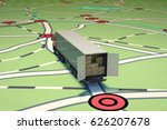 gps tracking and shipment. 3d... | Shutterstock . vector #626207678