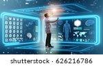 man doctor in futuristic... | Shutterstock . vector #626216786