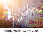 data analyzing in forex...   Shutterstock . vector #626217005