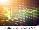 data analyzing in forex... | Shutterstock . vector #626217776