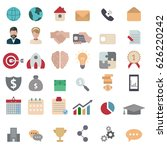 collection business icons.... | Shutterstock .eps vector #626220242
