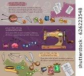 tailor banners vector. studio... | Shutterstock .eps vector #626223548