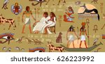egyptian gods and pharaohs... | Shutterstock .eps vector #626223992